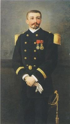 Peinture de marie viaud p loti lieutenant de vaisseau